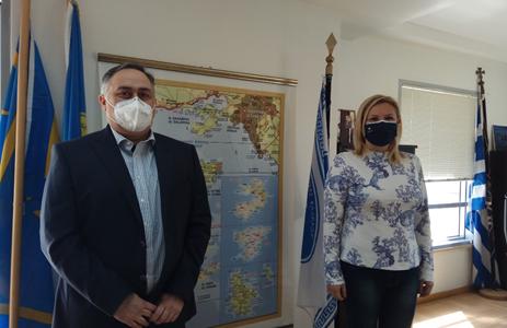 Συνάντηση του Προέδρου Β.Ε.Π. με την Αντιπεριφερειάρχη Π.Ε. Νήσων