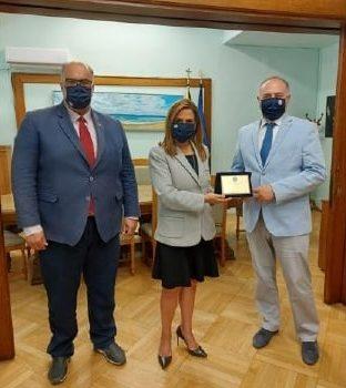 Την Υφυπουργό Υγείας κ. Ζωή Ράπτη επισκέφθηκε ο Κυβερνήτης της AHEPA HELLAS κ. Κωνσταντίνος Βαρσάμης