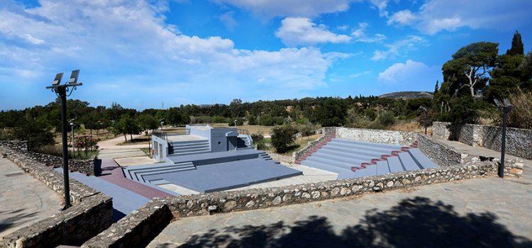 Έτοιμο να δεχθεί το κοινό το ανοικτό θέατρο του Μητροπολιτικού Πάρκου Αντώνης Τρίτσης, το οποίο ανακαινίστηκε με τις πλέον σύγχρονες προδιαγραφές και σεβασμό στο περιβάλλον
