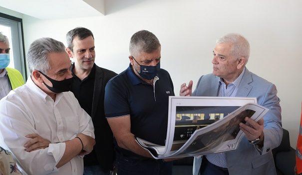 Συνάντηση του Περιφερειάρχη Αττικής Γ. Πατούλη με τον Διοικητικό Ηγέτη της ΠΑΕ ΑΕΚ Δ. Μελισσανίδη και επίβλεψη των έργων που χρηματοδοτούνται και εκτελούνται από την Περιφέρεια Αττικής στο γήπεδο και την ευρύτερη περιοχή