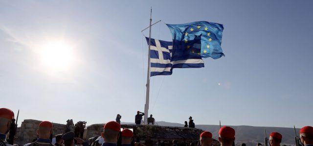Στις εκδηλώσεις για τον εορτασμό της Ημέρας της Ευρώπης, που διοργάνωσε η Περιφέρεια Αττικής παρουσία της Προέδρου της Δημοκρατίας Κατερίνας Σακελλαροπούλου, ο Περιφερειάρχης Αττικής Γ. Πατούλης