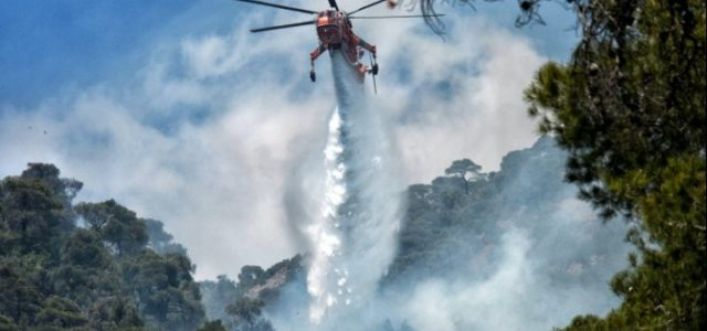 Θέμα χρόνου να δοθεί και επίσημα σε ύφεση η πυρκαγιά στα Γεράνεια Όρη