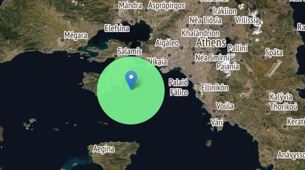 Σεισμός 2,8 Ρίχτερ 10,4χλμ Νοτιοανατολικά από Σαλαμίνα