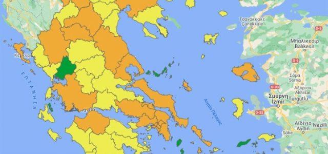 Δύο νέοι διαδραστικοί χάρτες για την εξέλιξη της πανδημίας και του εμβολιασμού σε επίπεδο περιφερειακής ενότητας