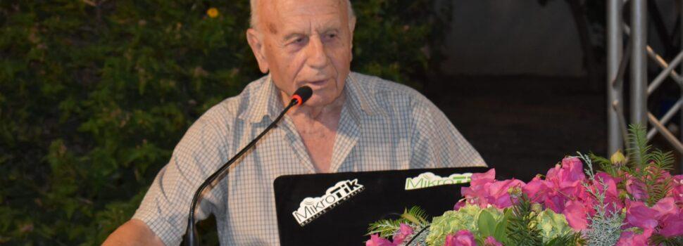 Ο λόγος του τ. κοινοτάρχη Αμπελακίων Ιωάννη Μαγιάτη στην εκδήλωση στο Αμπελάκι