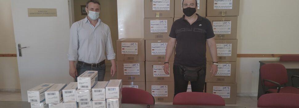 Διανομή μεγάλης παρτίδας μασκών πολλαπλής χρήσης για ευπαθείς ομάδες, δομές και υπηρεσίες πραγματοποιήθηκε από τον Δήμο Σαλαμίνας