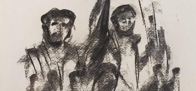 Με «όπλο» την τέχνη ο ζωγράφος Τ. Βαρελάς εκφράζει την αλληλεγγύη του στο νησί της επανάστασης